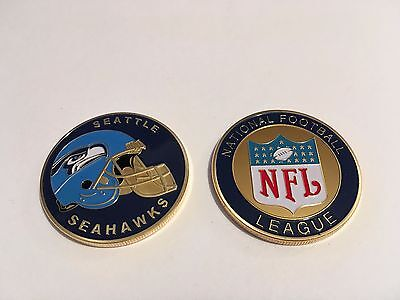 Nfl Seattle Seahawks Sport American Football Collectible Challenge Coin New