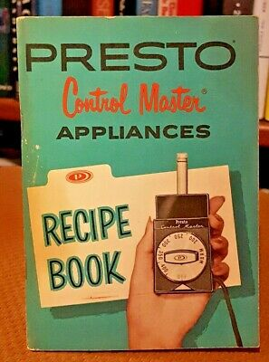 One Presto Control Master for Appliances Instructions and Recipe Book 1962 VTG