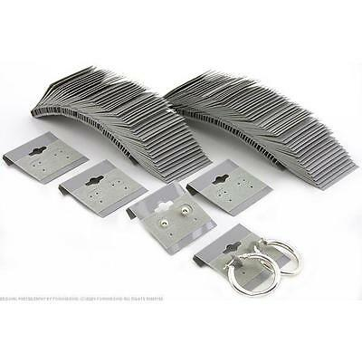"""100 Gray Earring Cards 1 1/2"""""""