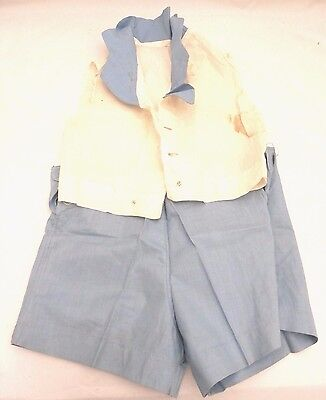 Vintage Antique 1920s Boys Shorts Blouse Top Cotton Chambray 2 Sizes