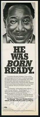 1978 Muddy Waters pic I'm Ready album release vintage print ad