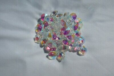 100- 14Mm Ab Aaa 2 Hole Clear Octagon Crystal Glass Beads Chandelier
