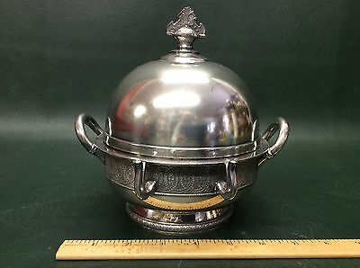 Victorian Wilcox Silverplate Covered Butter Or Cheese Dish ~ AS found