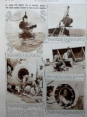 1930 ILLUSTRATED LONDON NEWS- Khyber Pass,William Beebe Deep Sea Dive Bermuda