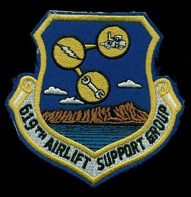 USAF 619th Airlift Support Group Patch J-1