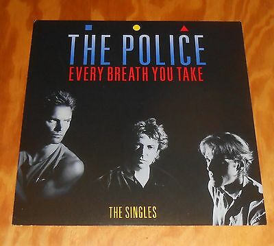 The Police Every Breath You Take The Singles Poster Flat Promo 12x12 Sting RARE