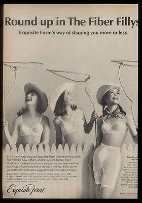 1966 cowgirl 3 women photo Exquisite Form bra girdle print ad