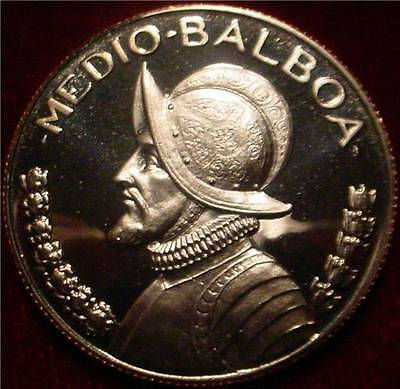 Only 17.000 Minted Proof 1973 Half Balboa Panama**beautiful Coin**