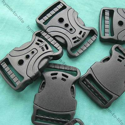"5/10/50 pcs Black plastic Multi-Hole V Sharpe Buckle For 1-1/4"" webbing M408-32"