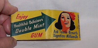 Vintage Original Matchbook-Doublemint Chewing Gum-Teeth-Breath-Digestion