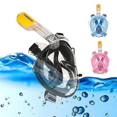 2017 Swimming Full Face Mask Surface Diving Snorkel Scuba Adult Kid N0B1