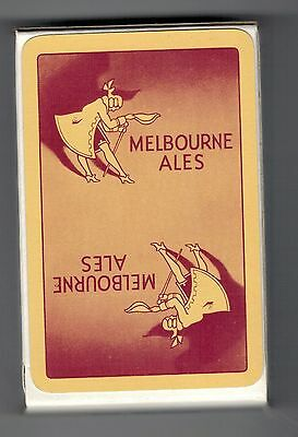 LOT.4.Vintage Playing Cards, MELBOURNE ALES. MINT&  SEALED.YELLOW/BROWN REVERSE