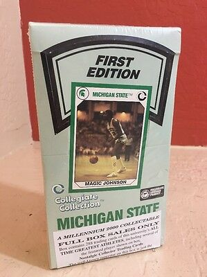 Michigan State Magic Johnson 1990 Collegiate Collection  Box 36 Sealed Packs New