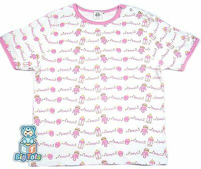 "*Big Tots * "" a baby girl""  SHIRT cotton snap shoulder Adult Baby"
