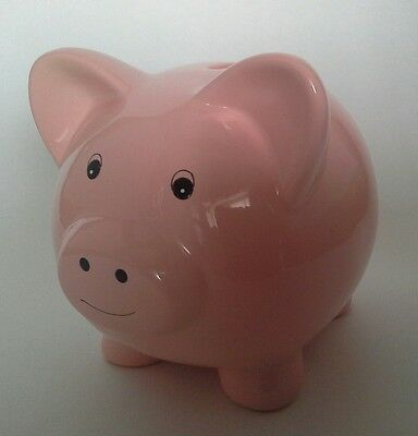 Cute Pink Pig Ceramic Money Box/Piggy Bank With Gift Box-Cool Gift