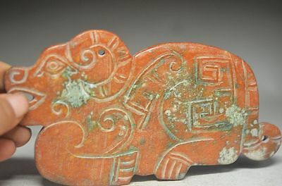 Sublicate Chinese old jade hand carved sheep statue cd8