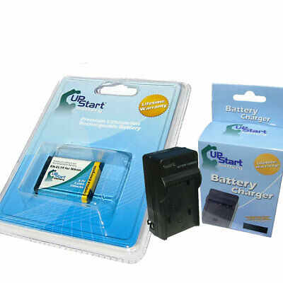 Battery + Charger for Nikon Coolpix S6500, Coolpix S3200, S3100, S4300, S3200