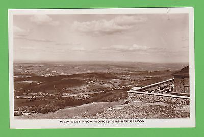 Vintage postcard. View West from Worcestershire Beacon.