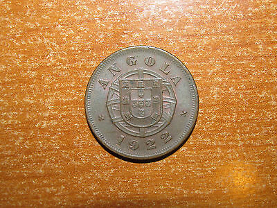 Angola 1922 5 Centavos coin Extremely Fine nice