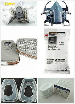 Respirator Painting Spray Gas Mask 3M 6200 501 5N11 6001 7502 7pcs set suit