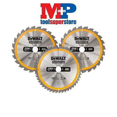 DEWALT DT1964QZ Construction Saw Blade 3 Pack 305mm x 30mm x 24T/48T/60T