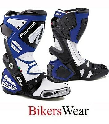 Forma Ice Pro Motorcycle/Motorbike Racing Boots- Blue