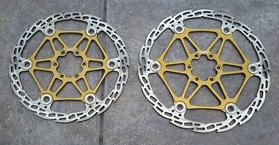 2 Hope Tech Gold 203Mm 183Mm Floating Saw Brake Disc Rotors Mtb Mountain Bike