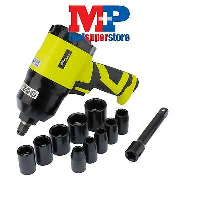 """Draper 83422 Storm Force Composite Air Impact Wrench Kit (1/2"""" Square Drive)"""