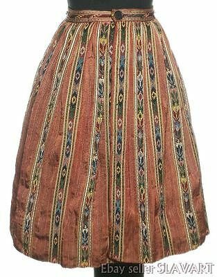 RARE Romanian folk costume skirt ethnic style peasant clothing regional textile