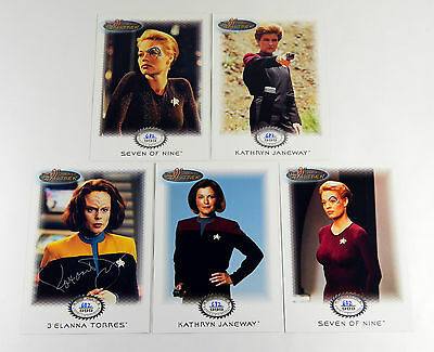 Women of Star Trek In Motion Archive Collection Extension Chase Set (G1-G5) /999