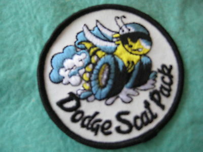 "Vintage Dodge Scat Pack Racing  Patch 3"" X 3"""