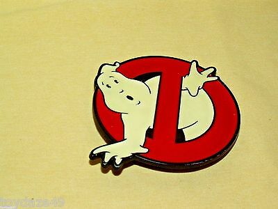 Ghostbusters Belt Buckle Metal Red White Enamel Columbia Pictures Ind 2009 Movie