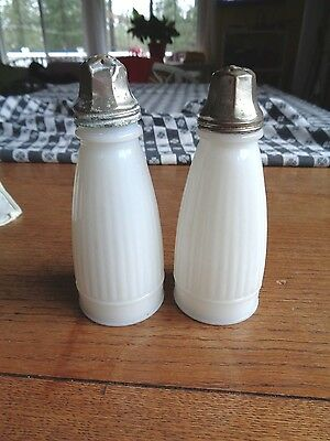 Macbeth Evans Petalware  Antique Salt & Pepper Shakers