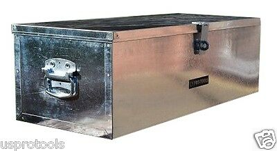 264 Us Pro Job Site Box Safe Tack Chest Tool Box  Van Truck Security  Galvanized