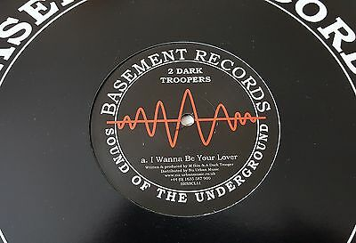 "Two Dark Troopers - Techno Bros / I Wanna Be Your Lover 12"" Rp Basement Records"
