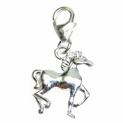 Horse on clip small sterling silver charm .925 x 1 Horses charms CI300529--09LS