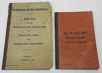 2 Old Antique 1913 & 1923 RAILROAD BOOKLETS New York Central Michigan Central