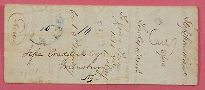 1841 Stampless Elizabeth Ky F/l Court Summons To Greensburg Ky