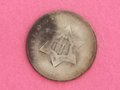 1852 Three Cent Silver Trime 3 Cents Coin - 5060
