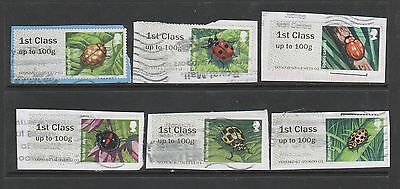 2016 Post and Go- Ladybirds  - used on paper