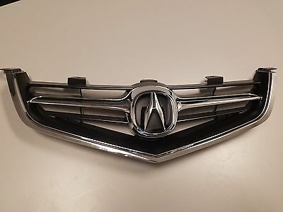 ACURA TSX FRONT Bumper Upper Grille Grill With Oem Emblem - Acura tsx front bumper