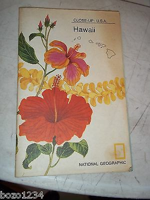 Vintage Hawaii National Geographic Close Up 1976 State Of Hawaii Large Map