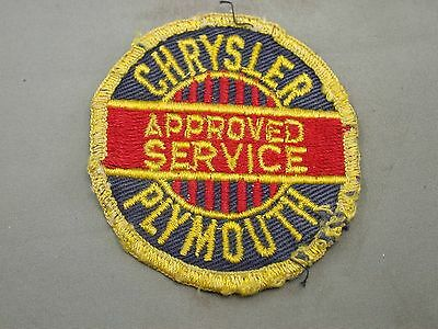 Vintage Old Chrysler Plymouth Approved Service Patch Badge Blue Red Yellow