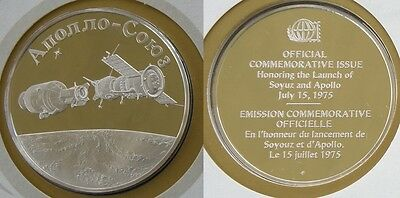 1975 1st US-Soviet Space Mission Silver Proof Medal