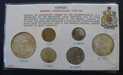 C-USA 1966 Canada 6 Coin Type Set Uncirculated
