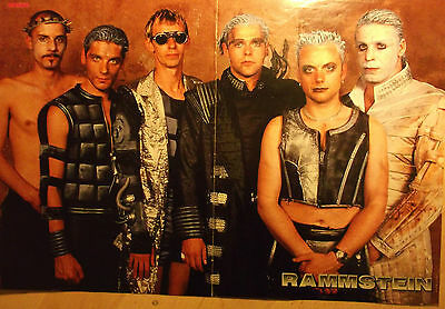 1 german poster RAMMSTEIN 1 SHIRTLESS LINDEMANN ROCK BOY BAND BOYS SINGER GROUP