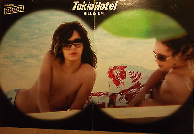 1 german poster TOKIO HOTEL SHIRTLESS BILL TOM KAULITZ BOY BAND BOYS GROUP