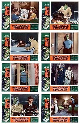 I WAS A TEENAGE FRANKENSTEIN Complete Set Of 8 Individual 11x14 LC Prints 1957