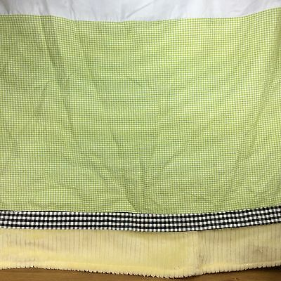 Wendy Bellissimo Honey Bee Baby Cribskirt Nursery Bedding Decor Green Yellow