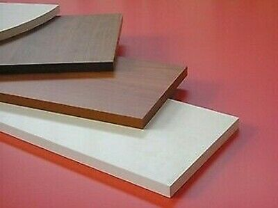 5 Pz Shelf White Wooden Shelves Rectangular Shelf 80x20x1, 8 CM